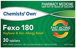 Chemists Own Fexo 180mg 30 Tabs (Generic for TELFAST)