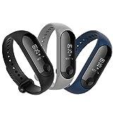 Anjoo [3 Pièces] Bracelet Compatible pour Xiaomi Mi Band 4/ 3, Remplacement Sangle Bracelet...