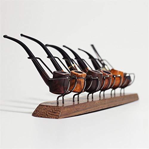 didatecar Pfeifenständer Aus Holz Pfeifenständer Pfeifenhalter Aus Holz Für Tabakpfeifenzubehör Tobacco Pipe Display Stand Rack Hold Pfeifenständer