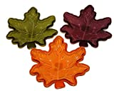 Set of 3 Candy Dishes includes, Burgundy, Green and Orange Nice touch to your serving table!