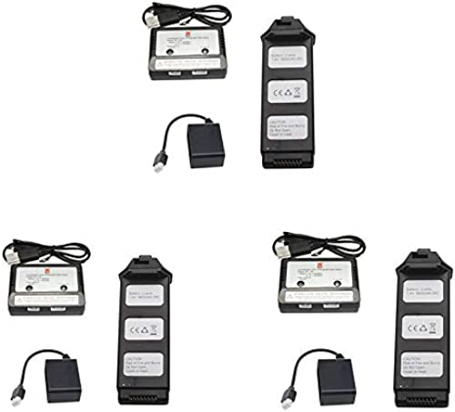 FairOnly MJX Bugs 5 W B5W Quadricoptère RC Pièces de Rechange 7.4V 1800mAh Lipo Batterie + Chargeur + Adaptateur de Charge 3 PIèCES