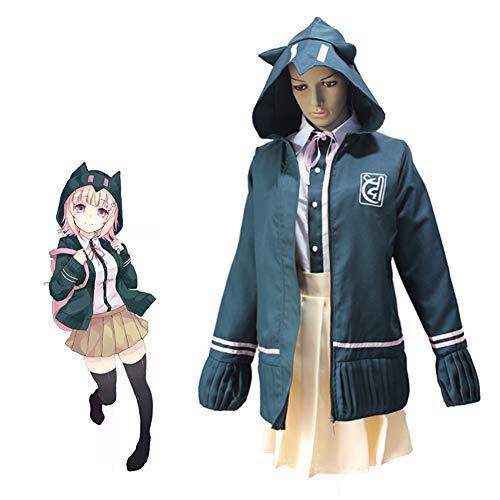 PAOFU-Japanse Anime Game Cosplay Kostuum High School Uniform Super Danganronpa Chiaki Nanami Cosplay Kostuum Set