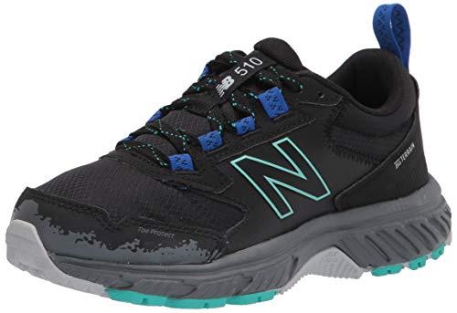 New Balance Women's 510 V5 Trail Running Shoe, Black/Lead/Tidepool, 7