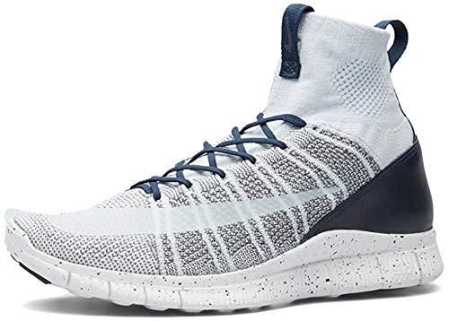 Nike Nike Herren Free Flyknit Mercurial Fußballschuhe, Silber, Weiß (Pr Pltnm SMMT Wht Drk Gry Obsd), 44 EU