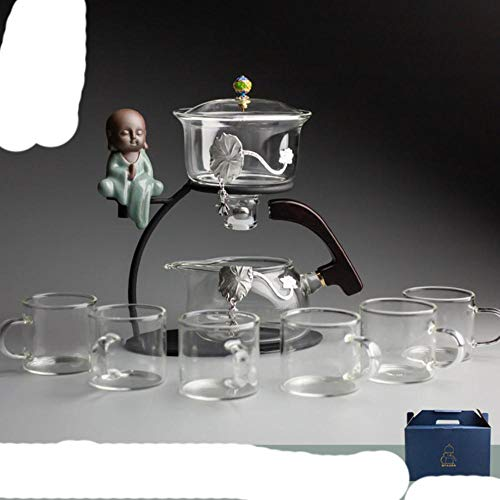 Venta Directa Creativa de Vidrio de Té Automático Zen Lazy Tea Maker Magnético Semi-Automático Kung Fu Tea set-16