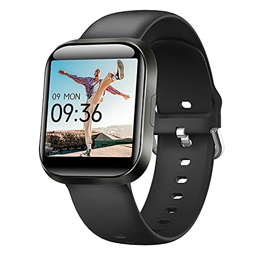 AIEOE Smart Watch for Women Men, 1.54 inch Full Touch Screen Fitness Trackers, Temperature Monitor, Heart Rate and Blood Pressure Monitor, Sleep Tracking, 20 Sport Modes, 10 Days of Usage Time