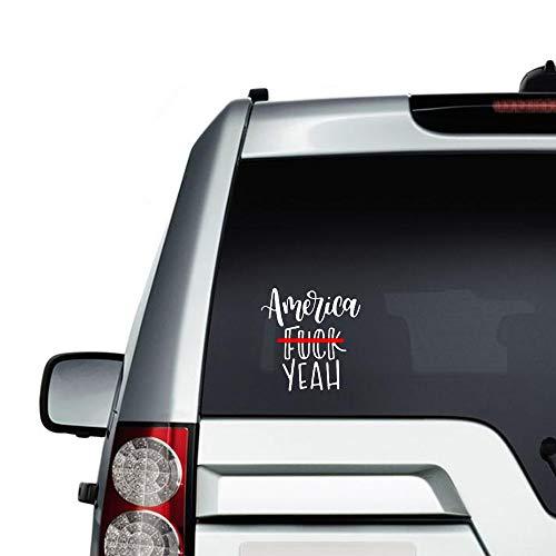 American F*ck Yeah Auto-Aufkleber, Vinyl, lustiger Stoßstangen-Aufkleber, gestanzte Aufkleber für Laptops