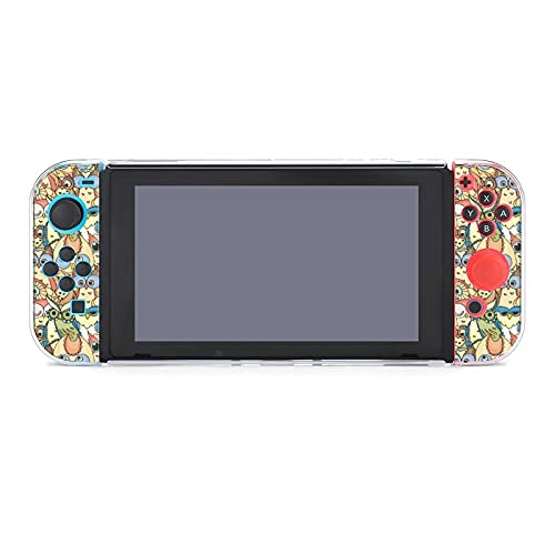 Protective Case Cover for Nintendo Switch, Owlets Print Case for Nintendo Switch Split 5-Piece Switch Game Console Anti-Scratch PC Cover