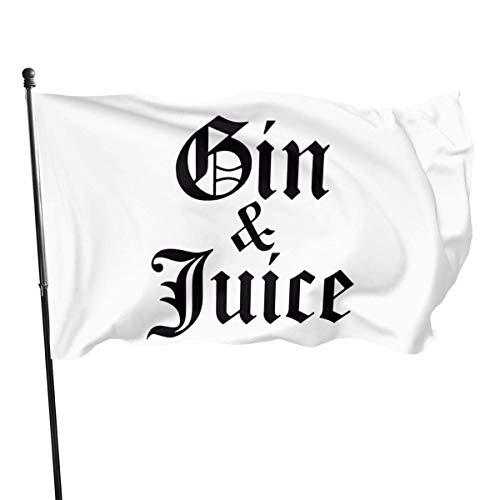 AGnight Flagge Fahnen Banner Gin & Juice Decorative Garden Flags, Outdoor Artificial Flag for Home, Garden Yard Decorations 3x5 Ft