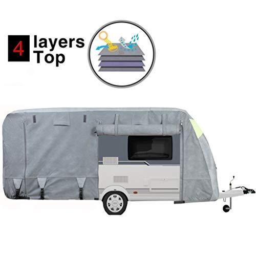Wohnwagen Schutzhülle - iiSPORT Wohnwagen Abdeckplane mit 3 Jahren Garantie, Atmungsaktiv/UV Schutz/730x250x220CM