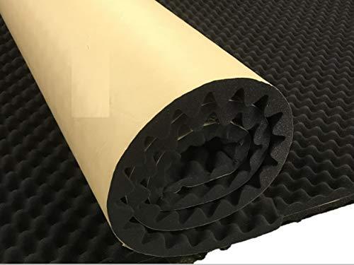 BookishBunny Self Adhesive Acoustic Foam Egg Crate Panel Studio Foam Wall Panel 40' x 80' (1.5' Black)