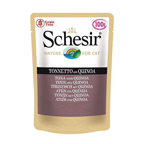 Schesir Cat Jelly Thunfisch mit Quinoa, Katzenfutter nass, 20 Beutel x 100 g