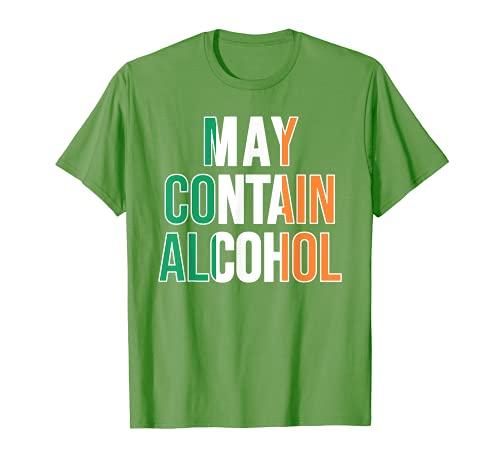 La bandera irlandesa puede contener alcohol divertido día de San Patricio Camiseta