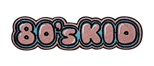 Finally Home 80's Kid Retro Vintage Patch zum Aufbügeln | Achtziger Patches, 80er Jahre Old School Bügelflicken, Erwachsene Flicken, Aufnäher für Jeansjacken und weitere Kleidung