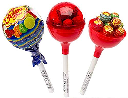 Chupa Chups  Giant Lollipops  With assorted suckers inside  3 Piece Set 3 Pack