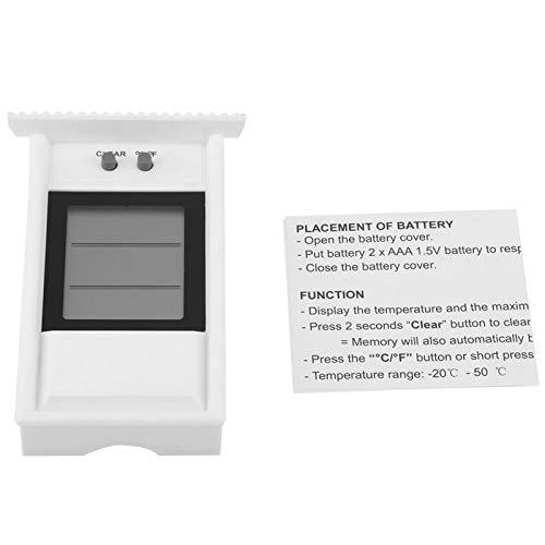 Termómetro digital a prueba de agua - Higrómetro digital Termómetro de interior Probador a prueba de agua Controlador de temperatura(blanco)