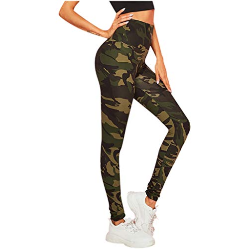 SALUCIA Damen Camouflage Leggings High Waist Leggins Fitness Hose Push Up Workout Yoga Sport Fitnesshose Stretch Tights Laufhose