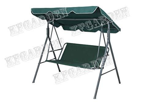 KFGARDEN - Coprisedile da giardino per dondolo da giardino, per sedia a dondolo da giardino, 2 posti, 115 x 48 cm, colore: verde