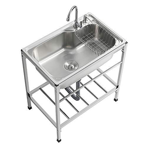 LWZ Fregadero para Uso General Comercial del lavadero de la Tina del lavadero del Acero Inoxidable