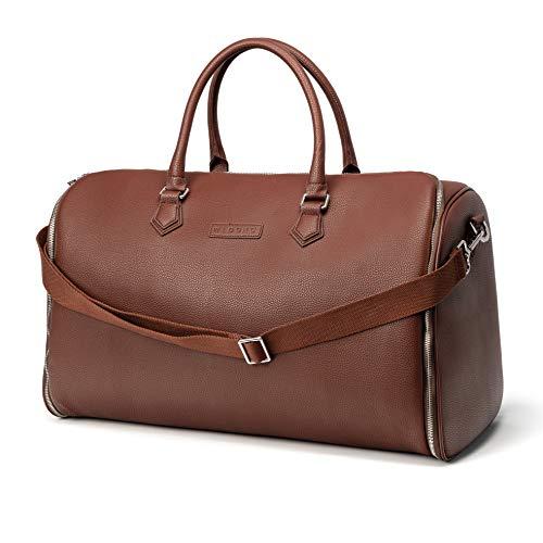 WLDOHO® 2in1 Anzugtasche Reisetasche für Business Reisen und Handgepäck I Kleidertasche für Anzüge mit Schuhfach, Inklusive Tragegurt (Braun)