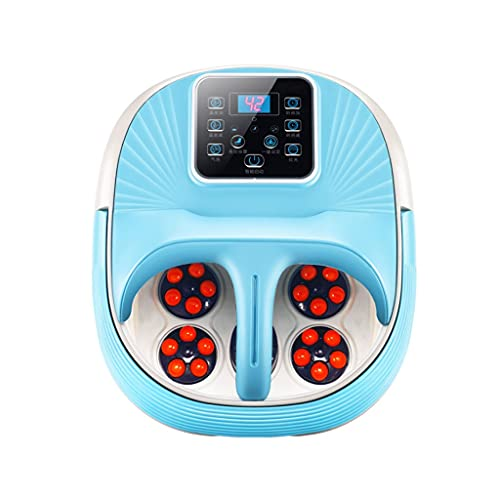 CHENGGUAN Foot Spa Bath Massager, Foot Spa Bath Soaker with Heat Bubbles Vibration and Massage Pedicure Motorized Massager Professional Home Tired Feet Stress Relief, The Best Birthday Gift