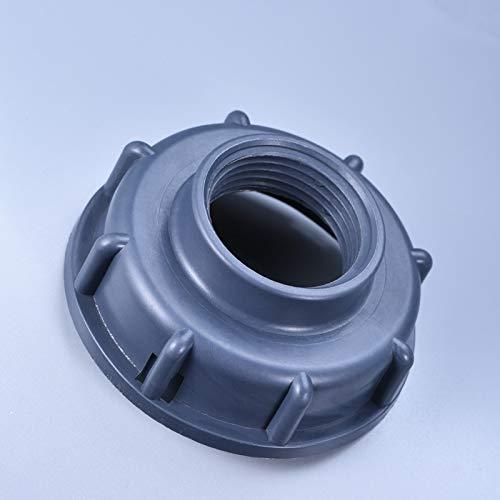 WEIZI Durable IBC Accesorios para tanque S60X6 Tapa roscada de rosca gruesa 60 mm rosca hembra a 1/2', 3/4', 1' adaptador conector de agua, 1''