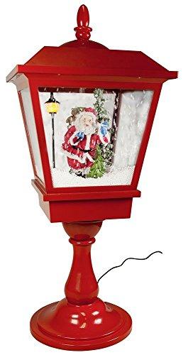 Weihn-Laterne Santa-Schnee