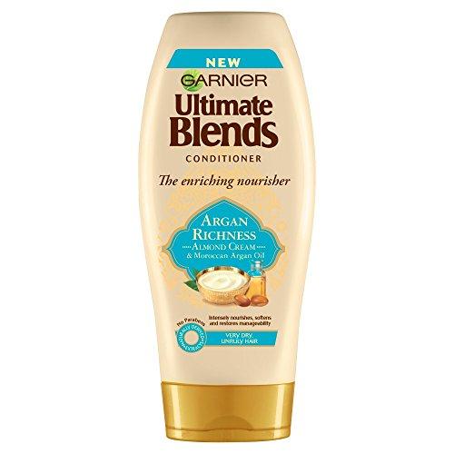 Garnier Ultimate Blends Argan Oil and Almond Cream Dry Hair Conditioner, 6 x 360 ml
