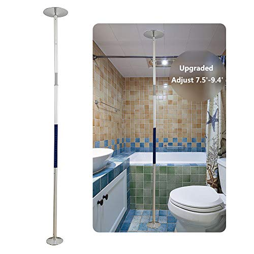 Handicap Pole for Bedroom Bathroom Grab Bars Transfer Pole Security Shower Handles for Elderly Seniors Handicap Grab Bars Shower Safety Toilet Rails Stand Assist Tub Handles Floor to Ceiling Pole