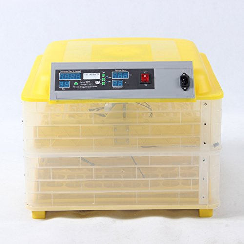 Wotefusi Automatic Egg Incubator Poultry Hatcher 112 Eggs 80W 110V for Quail, Chickens, Ducks, Pigeons Eggs