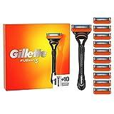 Gillette Fusion 5 Nassrasierer Herren, Rasierer + 11 Rasierklingen mit 5-fach Klinge