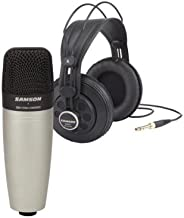 samson sr850 c01 microphone & headphones pack