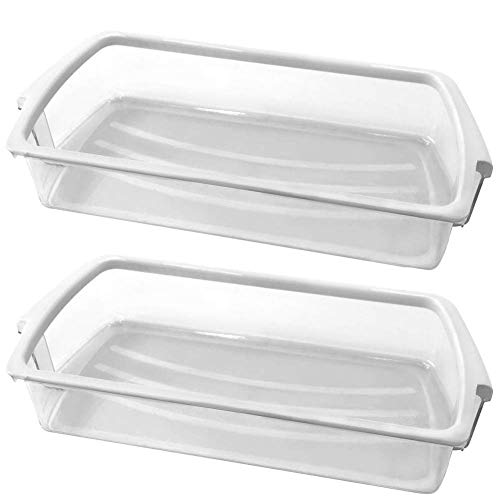 2 PACK W10321304 refrigerator Door Shelf Bin with White Band on top For whirlpool refrigerator Replacement WPW10321304, AP6019471, 2179575, 2179607, 2171046, 2171047, 2179574, AP4700047,PS3489569