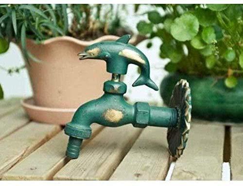 WNBNKSN Grifo de jardín Grifo de Lavabo Grifo de jardín al Aire Libre Forma de Animal Bibcock Verde/Grifo de latón Antiguo para Lavar la fregona/Grifo de riego de jardín para Animales