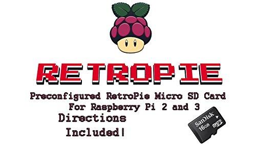 16GB retropie Micro SD Karte für Raspberry Pi 2& Pi 3