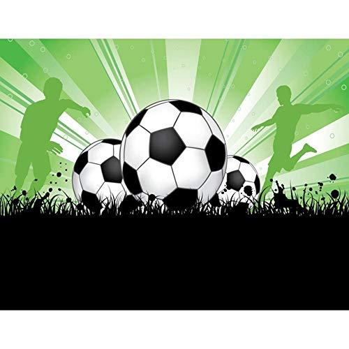 LGCCC Malen Nach Zahlen Kits DIY Vorgedruckt Leinwand-Ölgemälde Geschenk für Erwachsene Kinder Leuchtender Fußball Home Haus Dekor 40×50cm (Ohne Rahmen)