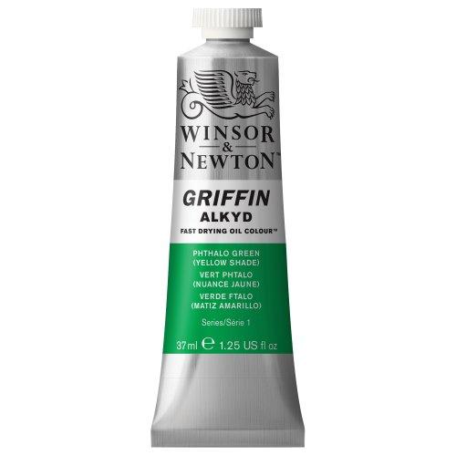 Winsor & Newton Griffin Alkyd - Tubo óleo de secado rápido, 37 ml, color verde ftalo (matiz amarillo)