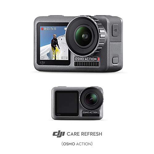 DJI Osmo Action + Care Refresh - Action Cam Digitale + Versicherung, Actionkamera mit 2 Bildschirmen 11m wasserdicht 4K HDR-Video 12MP 145° Winkelobjektiv Kamera