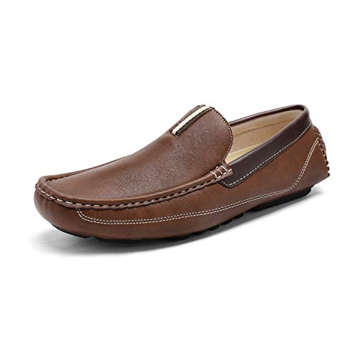 Bruno Marc Men's Brown Driving Moccasins Penny Loafers Slip on Loafer Shoes Size 12 BM-Pepe-2