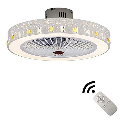Ventilador de techo de 36 W con iluminación LED, lámpara de ventilador oculta, lámpara de techo para salón, comedor, dormitorio, silencioso, hogar, habitación infantil, lámpara de ventilador