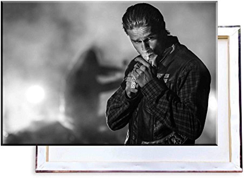 Unified Distribution Sons of Anarchy Jax Teller Charlie Hunnam - 120x80 cm - Bilder & Kunstdrucke fertig auf Leinwand aufgespannt und in erstklassiger Druckqualitt