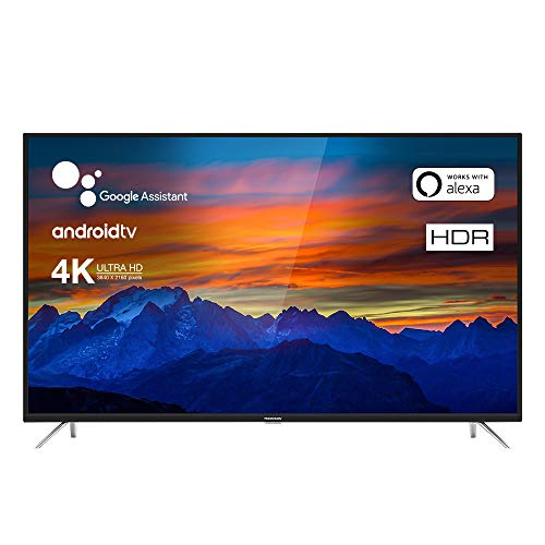 TCL Thomson 55UE6400 Fernseher 139 cm (55 Zoll) Smart TV (4K UHD, HDR10, Micro Dimming Pro, Android TV, Prime Video, Alexa kompatibel, Google Assistant) Schwarz