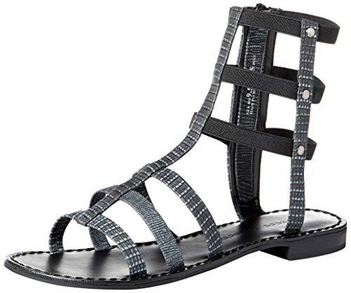 Chinese Laundry Women's Gemma Black Lizard Sandal 7 M
