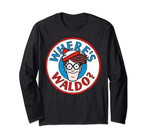 Where's Waldo Head Portrait Circle Logo Long Sleeve