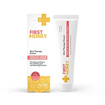 First Honey Manuka Honey Cream for Dry & Itchy Skin | Fast Relief for Eczema Rosacea Psoriasis & Dermatitis | Natural & No Fillers | Safe for Babies & Toddlers | 1.75 oz
