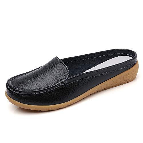 Sandales Pantoufles d'été antidérapantes Hommes,Chaussures bonnet printemps et été, semelle souple, antidérapantes, sandales mi-longues pour femmes-E_42
