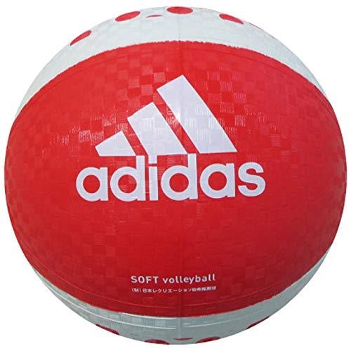 adidas(アディダス) ソフトバレーボール 赤×白 AVSRW AVSRW