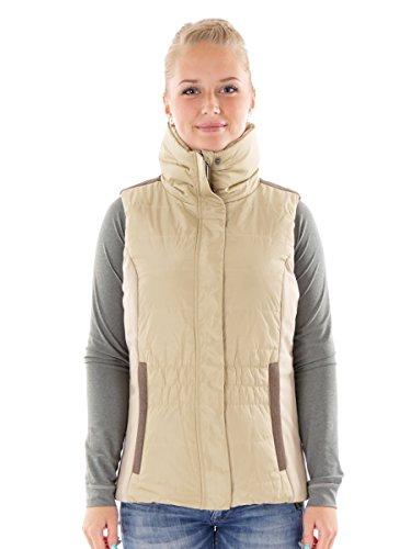 CMP Weste Steppweste Kragenweste beige Fleece Zipper Taschen warm Gr. 38 3K29966 (38)