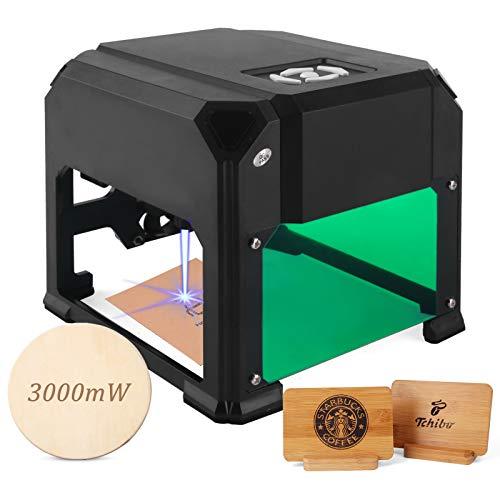 Graveur laser de bureau 3W avec 3.1 * 3.1 dans la zone de travail pour débutant, graveur laser Plug and Play, super facile à utiliser pour une utilisation à domicile.