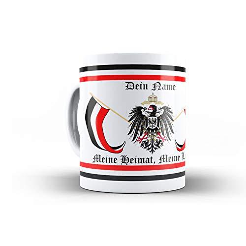 Tasse Meine Heimat Meine Liebe mit Namen Kaffeebecher Adler Preußen #30744